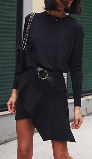 Black-flip-skirt